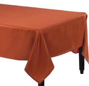 Metallic Copper Fabric Tablecloth