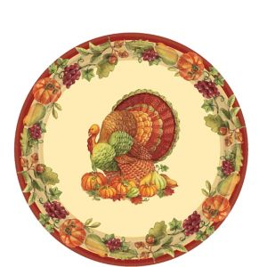 Joyful Thanksgiving Dessert Plates 60ct