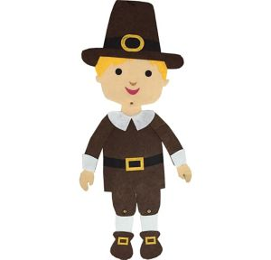 Jointed Felt Pilgrim Boy