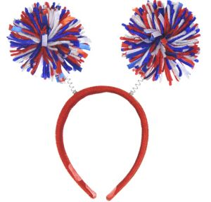 Red, White & Blue Pom-Pom Head Bopper