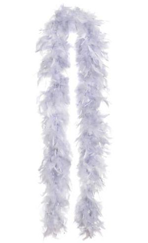 Silver Feather Boa