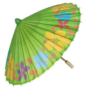 Hibiscus Print Kiwi Green Parasol