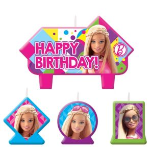 Barbie Birthday Candles 4ct
