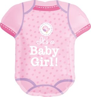 Girl Baby Shower Balloon - Shower With Love Bodysuit