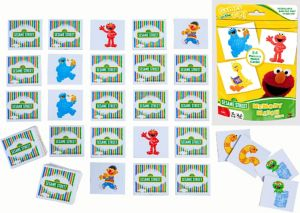 Sesame Street Memory Match Game Bag