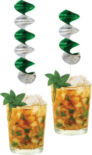 Mint Julep Swirl Decorations 2ct - Horse Racing