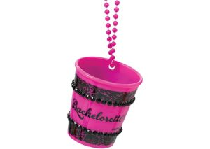Pink Bachelorette Shot Glass Necklace - Sassy Bride