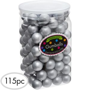 Silver Gumballs 115pc