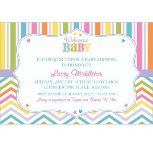Custom Baby Brights Invitations