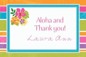 Custom Sophisticated Hibiscus Thank You Notes