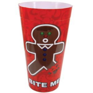Bite Me Gingerbread Man Tumbler