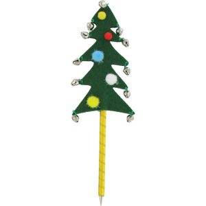 Green Jingle Bell Christmas Tree Pen
