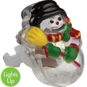 Light-Up LED Snowman Ring