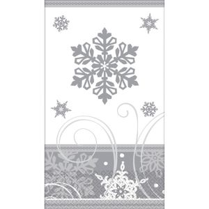 Sparkling Snowflake Guest Towels 16ct