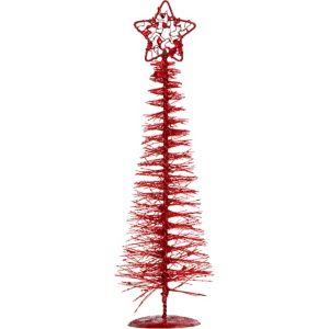 Glitter Red Bottle Brush Tree