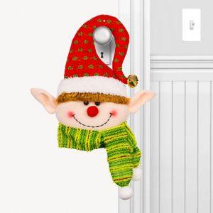 Red Plush Elf Door Hanger