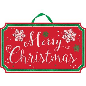 Glitter Merry Christmas Sign - Modern Christmas