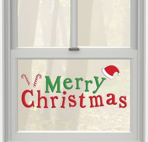 Merry Christmas Gel Cling Decals 20ct