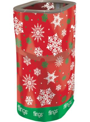 Snowflake Flings® Pop-Up Trash Bin