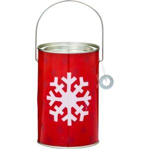 Snowflake Paint Can Treat Bucket