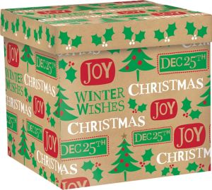 Christmas Messages Kraft Gift Box