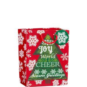 Glitter Joy to the World Christmas Gift Bag