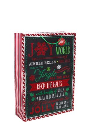 Glitter Chalkboard Christmas Gift Bag