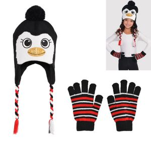 Child Penguin Peruvian Hat & Gloves