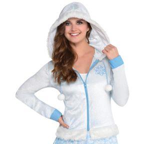 Snowflake Zip-Up Hoodie