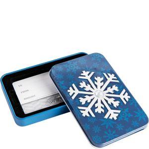 Snowflake Gift Card Holder Tin
