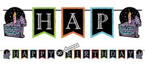 Chalkboard Birthday Pennant Banner