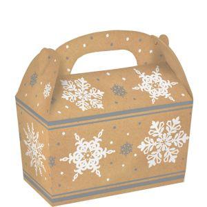 Snowflake Kraft Treat Boxes 5ct