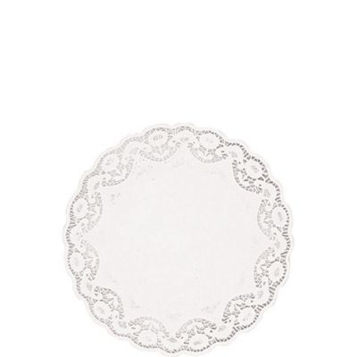 White Round Doilies 28ct