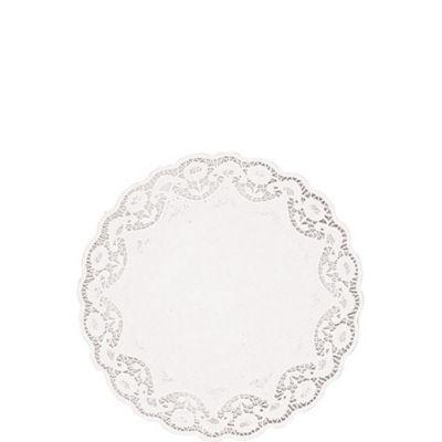 White Round Paper Doilies 28ct