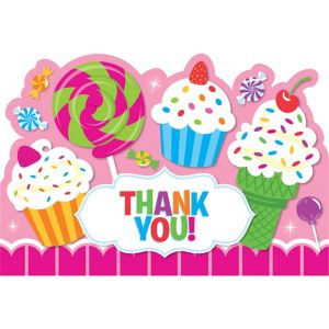 Candy Shoppe Thank You Notes 8ct