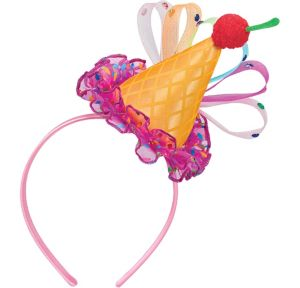 Ice Cream Cone Party Hat Headband