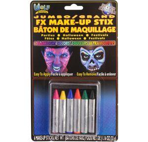Jumbo Blacklight Neon Face Paint Crayons 6ct