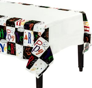 Colorful Block Party Table Cover
