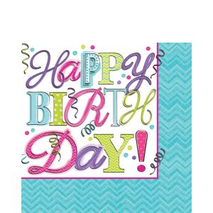 Sweet Birthday Lunch Napkins 16ct
