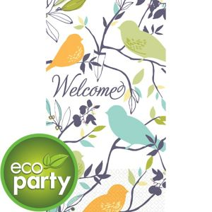 Eco-Friendly Welcome Birds Guest Towels 16ct