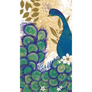 Peacock Guest Towels 16ct