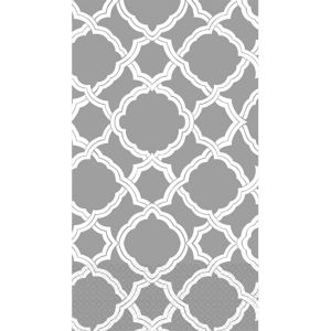 Gray & White Moroccan Guest Towels 16ct