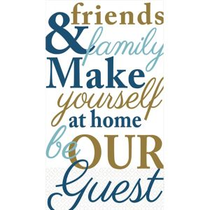 Friends & Family Typography Guest Towels 16ct