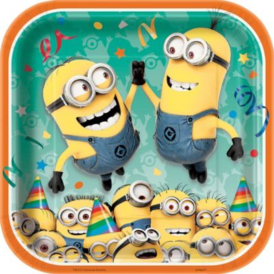 Despicable Me Lunch Plates 8ct