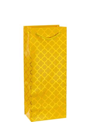 Metallic Yellow Moroccan Bottle Bag