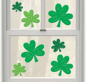 Shamrock Gel Cling Decals 7ct