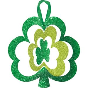 Glitter Spinning Shamrock Sign