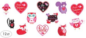 Woodland Friends Valentine's Day Cutouts 12ct