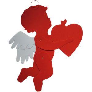 Jointed Felt Cupid