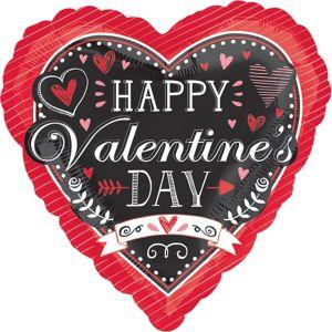 Happy Valentine's Day Balloon - Chalkboard Heart